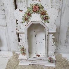 Wall display case shrine shabby chic ornate by AnitaSperoDesign, $225.00