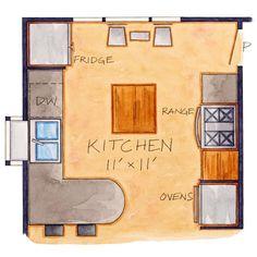 Small & Sunny Kitchen