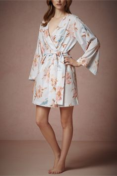 The perfect getting-ready robe from @BHLDN Weddings!