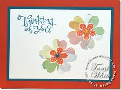 Stampin Up Petite Petals Inset Flower Card WOW video and details on the blog. Occasions catalog.