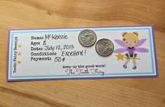 Very cool idea! GroopDealz | Printable Tooth Fairy Receipts!