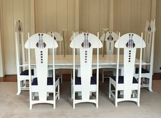Art Nouveau: Charles Rennie Mackintosh Chairs by Bruce Hamilton Furniture Makers