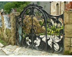 Wrought Iron Bed Ideas | eHow.com This would be a great gate across the driveway