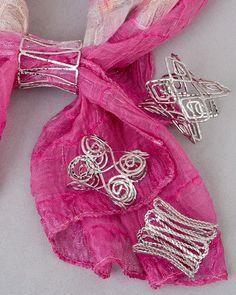 Open wire scarf jewelry! #scarves #scarf jewelry