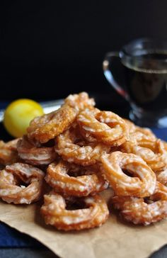 Crullers with Bourbon and Lemon Glaze - 10th Kitchen