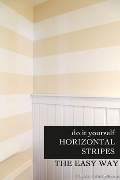 Do-it-yourself-painting-horizontal-stripes-on-a-wall