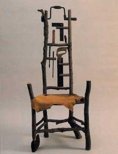 Daniel Mack, Chair Maker's Chair, 1989  sugar maple, hardware