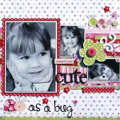A Project by everythingchick from our Scrapbooking Gallery originally submitted 02/12/09 at 07:30 AM children scrapbook, scrapbook girl, layout idea, scrapbook layouts, bugs, bug idea, scrapbook idea, cricut scrapbook pages, scrapbook galleri