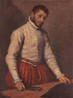 MORONI, Giovanni Battista 1570  The Taylor Oil on canvas, 97 x 74 cm National Gallery, London