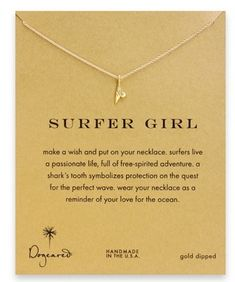 surfer girl necklace - perfect for #sharkweek!