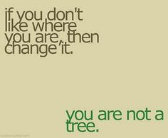 and if you do like where you are, root yourself.