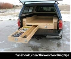 inspiration, truck, platform project, car camping organization, camp idea, design inspir, travel, drawers, storage ideas