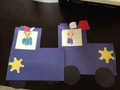 """""""P is for police. We appreciate you!"""" cards my Kindergarten class made."""