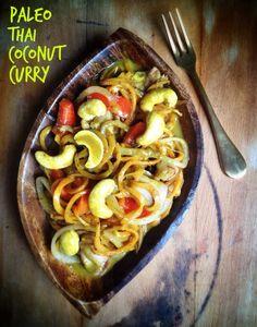 Paleo Thai Coconut Curry. (Gluten/ Grain/ Dairy/ Egg Free)  #paleo #diet #recipes #food paleoaholic.com