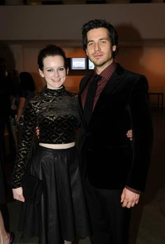 Sophie McShera and Rob James-Collier wearing Ralph Lauren Black Label.