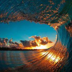 Risk-Defying Photographer Clark Little Goes Deep Inside Stunning Giant Waves #ClarkLittle #photography #ocean #wave #surf giant wave, ocean waves