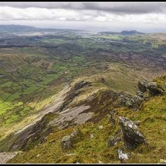 Looking down the Cnicht ridge in the Moelwynion mountains in Snowdonia