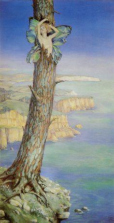 """Maud Tindal Atkinson (exh. 1906-1937), """"Ariel"""", с.1915"""