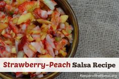 Strawberry Peach Salsa Recipe