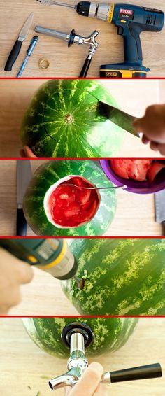 Make a watermelon keg