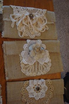 DECORATING WITH BURLAP AND LACE | decorating burlap bags - so cute! #burlap #bag #sewing #crafts #lace ...