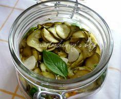Zucchine sott'olio basilico