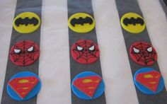 Superhero Cupcake toppers. $24.00, via Etsy.