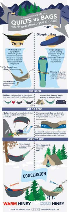 Quilts vs. Bags? A hammockers guide to insulation.