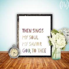 Bible Verse Art Hymn Printable Scripture Print by PrintableWisdom, $5.00
