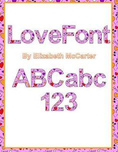 Love Font Clip Art