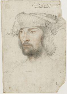 CLOUET François - French (Tours circa 1515-1572 Paris) - portrait of Jean de la Barre, c. 1520. Musée Condé, Chantilly.