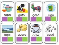 FREE - 1,2,3,4 Easy Spanish Syllable by Syllable Cards. Looks like fun game. Cards are so colorful!
