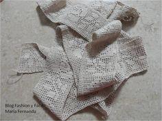 Fashion y Fácil DIY: Cómo hacer una puntilla tejida a ganchillo con rosa en punto red. Encaje de rosa con crochet (Crocheted net stitch roses).