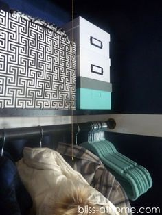 B@H- Coat Closet Makeover Closets don't have to be boring! Get these tips and ideas to make it stylish and organized.