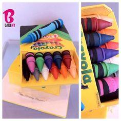 Huge Crayon Box Cake! #tbt - @bcakeny- #webstagram