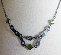 bike chain, chain necklac