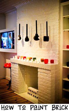 brick fireplace paint on pinterest. Black Bedroom Furniture Sets. Home Design Ideas