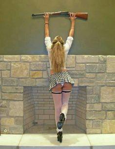 easi access, weapon, gun chick, girl gun, raymon