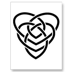 """The Celtic motherhood symbol looks like 2 hearts made out of knot work. One heart is lower than the first heart and both hearts are intertwined in a continuous knot.     To add children to the Celtic motherhood symbol, you add dots. 1 dot per child. These dots can be placed anywhere inside or outside the motherhood symbol.    """"I think I may have to make this my next tattoo!"""""""