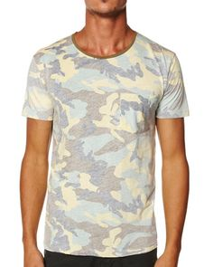 SURFSTITCH - MENS - TEES - SLIM FIT TEES - THRILLS BASIC POCKET TEE - CAMO