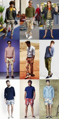 Men's Floral Trousers & Shorts Lookbook