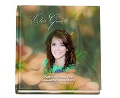 Hardcover Guest Books : Floral Hardcover Sign-In Registry Memorial Guest Book