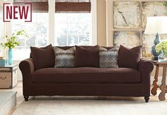 New Slipcover Design: Stretch Piqué Two Tone Separate Seat Slipcovers, You'll love the velvety texture like crosshatched corduroy that offers great stretch and recovery to neatly form around your furniture for a tailored-looking fit.