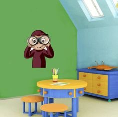 Curious george room ideas on pinterest for Curious george wall mural