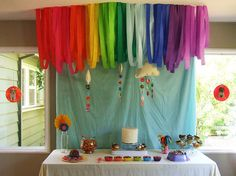 Rainbow birthday party?  I'm in!