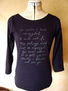 Mr Darcy Proposal shirt navy SMLXL by Brookish on Etsy, $25.00