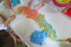 Stirring up sensory crayon designs
