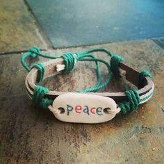 Peace bracelet.