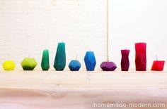 HomeMade Modern DIY Bloktagon candle via Paper and Stitch.