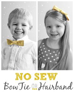 One tutorial- two looks! #bow #nosew #bowtie #hairband